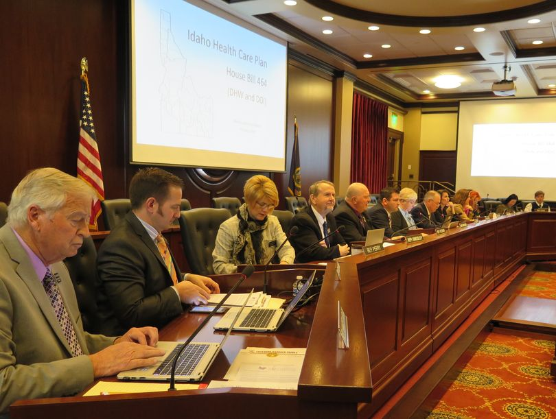 The Idaho House Health & Welfare Committee opens a hearing on Wednesday morning, Feb. 7, 2018, on the Idaho Health Care Plan, HB 464. (Betsy Z. Russell)