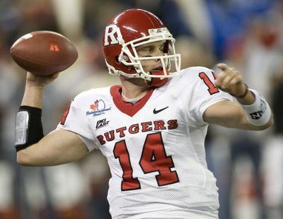 Quarterback Mike Teel's Rutgers team finished the season with seven straight wins. (File Associated Press / The Spokesman-Review)