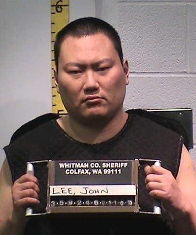 Booking mug of  Moscow, Idaho shooter John Lee. Lee is serving a life sentence without the possibility of parole in connection to the January 2015 deaths of his adoptive mother, 61-year-old Terri Grzebielski; his landlord, 71-year-old David Trail; and Moscow Arby's manager 47-year-old Belinda Niebuhr. (Whitman County Sheriff)
