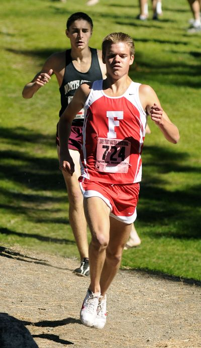 Ferris' Adam Thorne took control of last weekend's Tracy Walters Invitational at Audubon Park before the halfway point. (Dan Pelle / The Spokesman-Review)