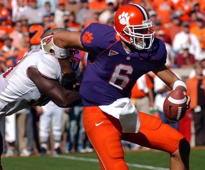Charlie Whitehurst went through the Atlantic Coast Conference battles as Clemson quarterback in 2005.  (Associated Press)