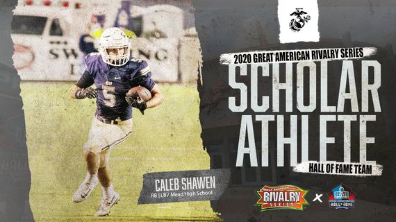 Mead's Caleb Shawen was honored by the Great American Rivalry Series.   (Great American Rivalry Series/via Twitter)