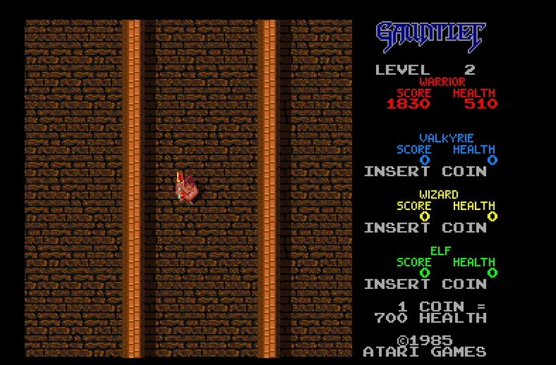 Gauntlet gave four lucky arcade-goers the opportunity to slash their way through mazes in 1985.