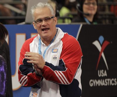 In this March 3, 2012, file photo, gymnastics coach John Geddert is seen at the American Cup gymnastics meet at Madison Square Garden in New York. (Kathy Willens / Associated Press)
