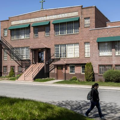 The old Trinity Catholic School was built in 1928. Now that the new school in open next door, it will be torn down and a new gym for the new school will be built in its place. (Colin Mulvany / The Spokesman-Review)