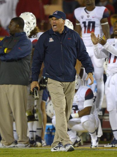 Arizona head coach Rich Rodriguez's offense has changed from the start of the season. (Associated Press)