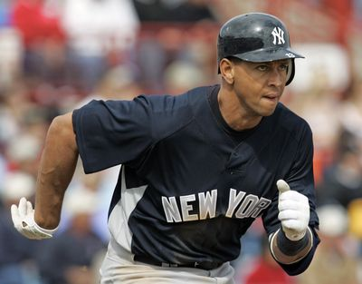 Alex Rodriguez is rehabbing from hip surgery.  (Associated Press / The Spokesman-Review)