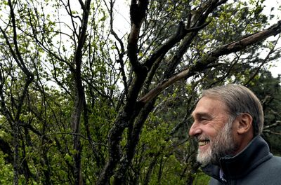 Kootenai Environmental Alliance executive director Barry Rosenberg, pictured this week on Tubbs Hill in Coeur d'Alene, will retire Friday. He is 66. (Kathy Plonka / The Spokesman-Review)