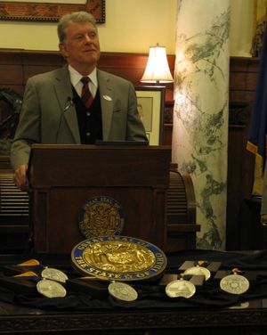 Idaho Gov. Butch Otter unveils new Idaho Medal of Achievement (Betsy Z. Russell)
