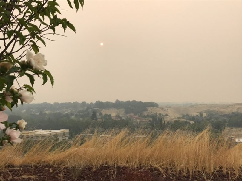 Wildfire smoke fills the air over Boise on Wednesday morning, Sept. 6, 2017. Air quality readings hit 190, toward the top of the read or