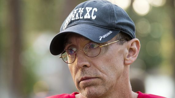 NC cross country coach Jon Knight has retired after nearly 30 years and 11 state championships.  (DAN PELLE)