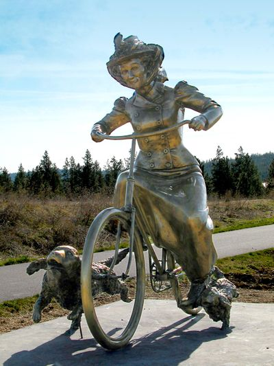 """""""Kate"""" was cut and removed from Riverstone Park in January. The statue was recovered Monday."""