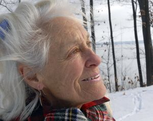 """In this Dec. 10, 2007 file photo, Anne LaBastille poses in Westport, N.Y. LaBastille, the environmentalist, sometime hermit and Adirondack author whose """"Woodswoman"""" autobiographies inspired others to venture into the wilderness, has died at a nursing home in Plattsburgh, N.Y. She was 75.  (Associated Press)"""