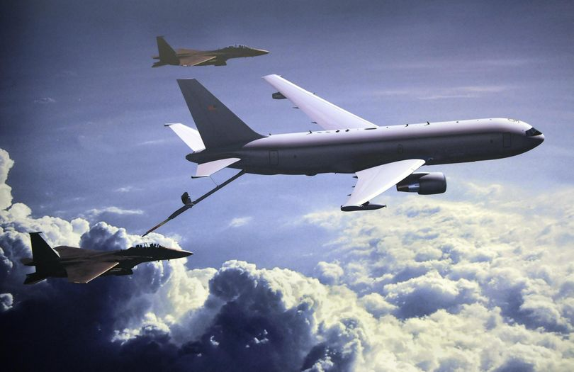 An illustration of KC-46A tanker. (COURTESY OF FAIRCHILD AIRFORCE BASE)