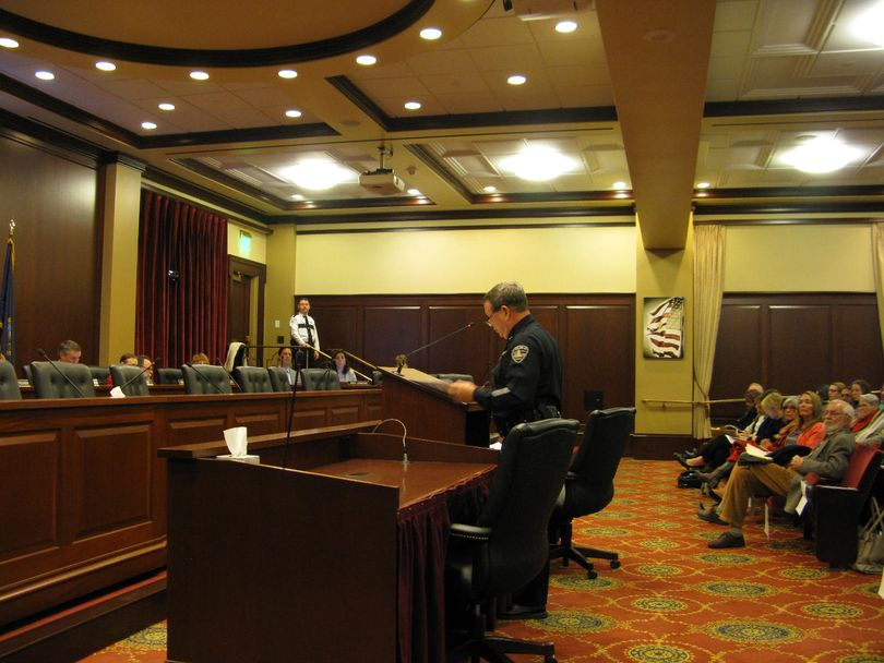 Boise Police Chief Mike Masterson testifies in favor of HB 2, the