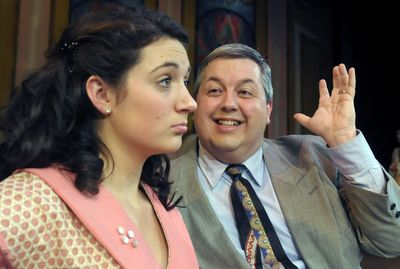"""Jessi Little, left, as Nanette, and Robert Wamsley, right, as Jimmy Smith, star in Spokane Civic Theatre's production of """"No, No, Nanette.""""  (Christopher Anderson / The Spokesman-Review)"""
