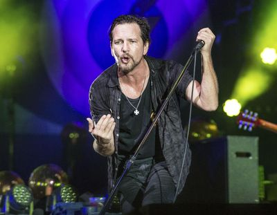 In this June 11, 2016 file photo, Eddie Vedder of Pearl Jam performs at Bonnaroo Music and Arts Festival in Manchester, Tenn. (Amy Harris / Amy Harris/Invision/AP)