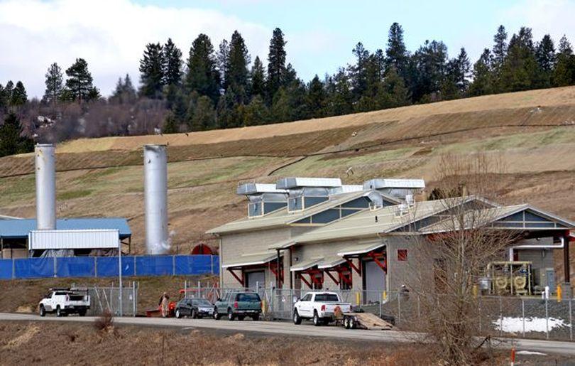The new power plant at the Fighting Creek landfill in Kootenai County (Kootenai Electric Cooperative)
