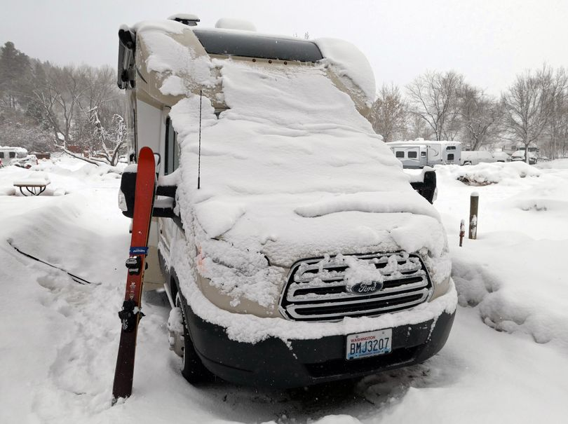 Cold and snow are difficult to manage in the RV. (John Nelson)