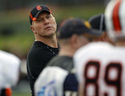 Former Eastern Washington coach Mike Kramer says his Idaho State team is making strides to rebuild the program. (Associated Press)
