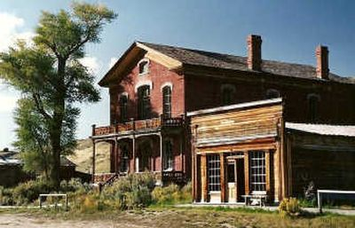 Hotel Meade was well used by Montana Territory dignitaries. Bannack hosted the territorial legislative assembly as the first capitol. Next door to the brick hotel stands Skinners Saloon which the sheriffs gang used as a hangout.  (Photos by Mike Brodwater / The Spokesman-Review)