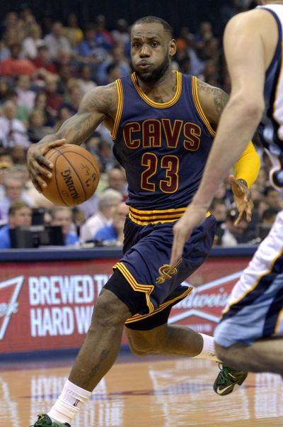 LeBron James helped drive Cleveland to a rousing victory. (Associated Press)