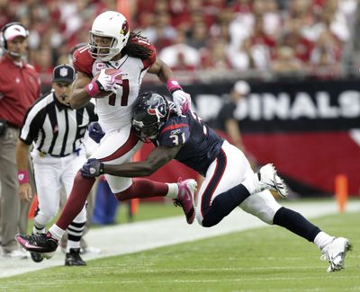 Wide receiver Larry Fitzgerald is a prime concern of any team that faces the Cardinals. (Associated Press)