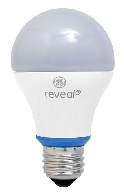 GE's new Reveal 60-watt equivalent LED bulb looks and works a lot like its familiar incandescent counterpart. (HANDOUT / MCT)