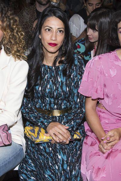 Huma Abedin attends the Prabal Gurung fashion show as part of NYFW Spring/Summer 2018 on Sunday, Sept. 10, 2017 in New York. (Charles Sykes / Associated Press)