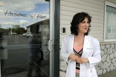 Dr. Cheryle Hart stands outside her Spokane Valley office on May 15.  (Dan Pelle / The Spokesman-Review)