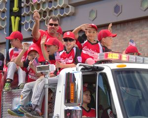 The Sandpoint All-Star baseball team participated in the town's 4th of July Parade Monday. (Marianne Love/Slight Detour photo)