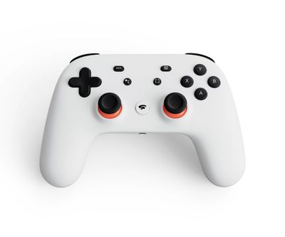 This undated image provided by Google shows the controller for the video-game streaming platform called Stadia. (AP)