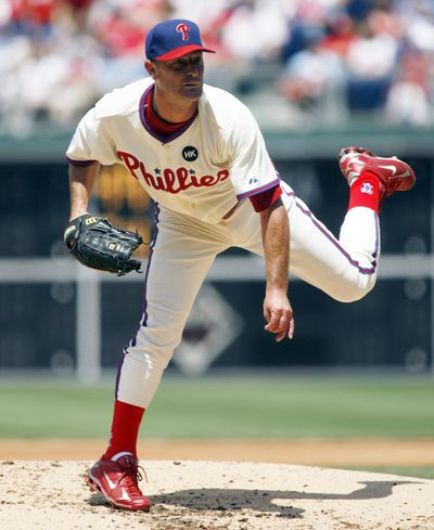 At age 46, Jamie Moyer can still deliver for Philadelphia. (Associated Press / The Spokesman-Review)