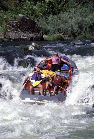 A raft plunges down a rapid on Oregon's Rogue River.A raft plunges down a rapid on Oregon's Rogue River.  (Photo courtesy of James Henry River JourneysPhoto courtesy of James Henry River Journeys / The Spokesman-Review)