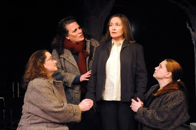 "Sara Blythe Smith, Marianne McLaughlin, Kate Vita and Nina Kelly star in Civic Theatre's ""The Women of Lockerbie.""  (Jesse Tinsley / The Spokesman-Review)"