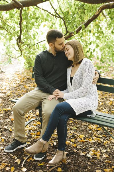 Emily Wenzel took Josh Hopkins and Paige Orendor's engagement photos. When the wedding was delayed to August, Wenzel agreed to remain their photographer. Orendor said vendors have been flexible with changes due to the coronavirus. (Emily Wenzel / Emily Wenzel Photography)
