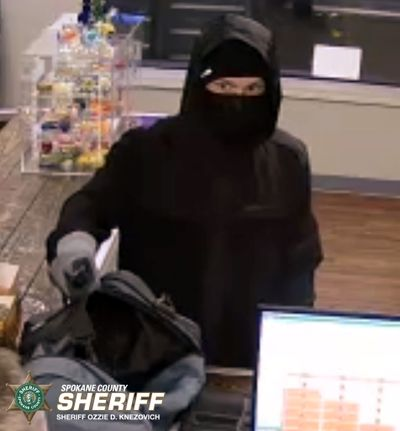 The Spokane County Sheriff's Office released this photo of a suspect in a March 5 robbery at Green Leaf.