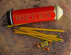 A vintage pencil case made in England still works for modern writers. (Cheryl-Anne Millsap / Photo by Cheryl-Anne Millsap)