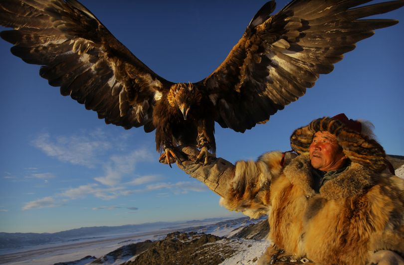 From Human Planet on the Discovery Channel: eagle hunter (Tim Allen / Courtesy photo)