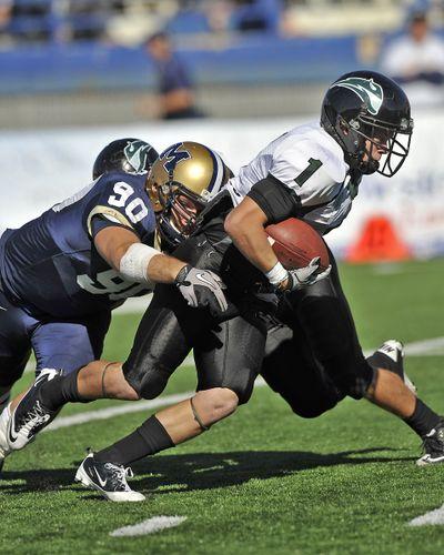 Portland State's Cory McCaffrey (1) will be a handful for the EWU defense Saturday. (Associated Press)