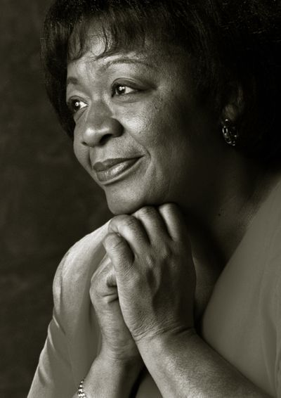 Dorothy Webster, a Spokane giant who played a significant role in developing the city as the first Black woman in senior management, while serving in various community roles, died on June 15. She was 73 years old. Webster poses here for a 1999 photo.  (COLIN MULVANY/THE SPOKESMAN-REVIEW)