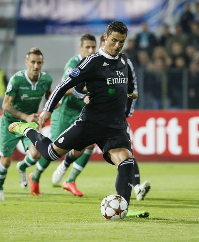 Cristiano Ronaldo scored equalizer on a penalty for Real Madrid. (Associated Press)