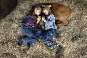 During the 2004 Southeast Spokane County Fair, cousins Shelby and Kailyn Gady, then 10 and 9 respectively, of Rockford snuggled with their blue ribbon winner Simmental  cow, Butterfinger. This year's fair continues today and Sunday.  (File/ / The Spokesman-Review)
