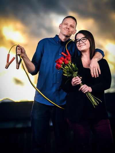 Love Story: Ryan and Danielle Vanhook. (Colin Mulvany / The Spokesman-Review)