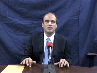 In this image taken from an undated videotape, lawyer Rodrigo Rosenberg, who was slain by gunmen  Sunday, alleges that Guatemala's President Alvaro Colom wanted him killed. (Associated Press / The Spokesman-Review)