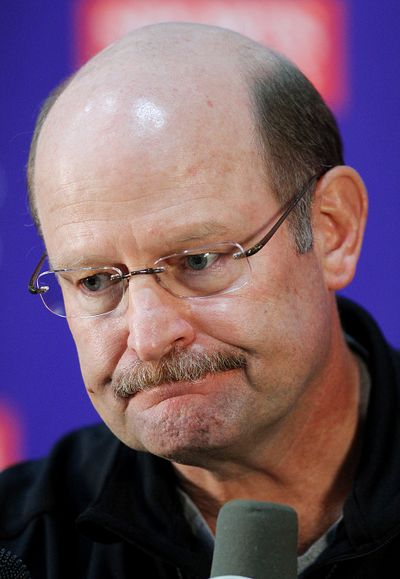 The Vikings fired coach Brad Childress on Monday, Nov. 22, 2010, cutting ties with a head coach who had come under increasing fire from his players _ and his boss _ for everything from their horrid start to his 1-2 playoff record and his abrupt decisions. (Andy King / Associated Press)