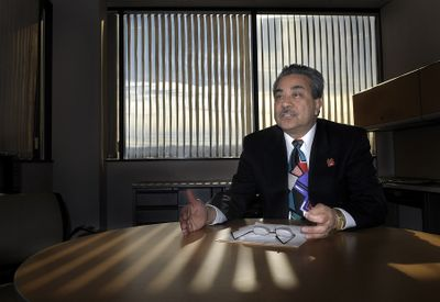 Arévalo: Earlier hiring freeze will help minimize the pain of layoffs. (Christopher Anderson / The Spokesman-Review)