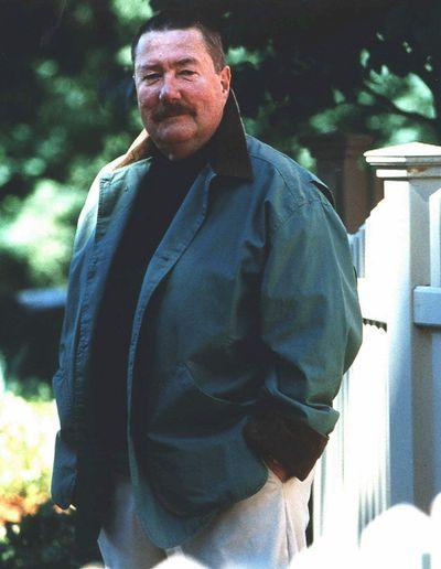 """Robert B. Parker, seen in a 1997 photo, wrote 37 """"Spenser"""" novels.  (File Associated Press / Putnam)"""