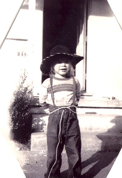 Jan Sarchio as a child in the 1950s.