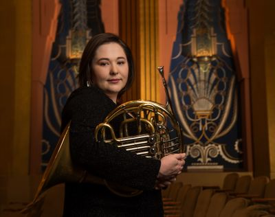 Katie Upton is principal horn for the Spokane Symphony. Before the French horn, she played the piano.  (Hamilton Studio)
